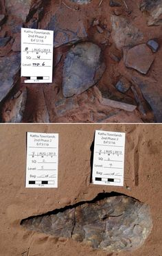 1-Million-Year-Old Artifacts Found in South Africa Jul 26, 2014 by Sci-News.com Hand axes found at the Kathu Townlands site, Northern Cape Province, South Africa. Image credit: Walker SJH et al.