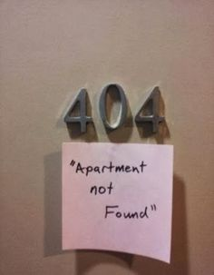 404, Apartement Not Found !, Click the link to view today's funniest pictures!