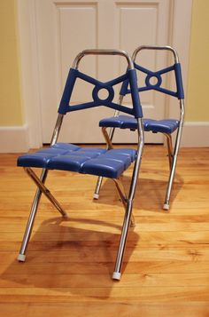 MidCentury Kid 2 1960s Folding Childs Chairs  by OldenDazeVintage, $38.00