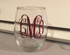 Personalized stemless wine glasses bride and by AGVINYLCREATION