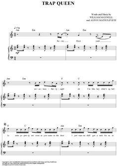 """Trap Queen"" Sheet Music by Fetty Wap from OnlineSheetMusic.com:"