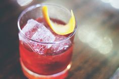 The perfect aperitif, Negronis rock equal parts gin, Campari and vermouth. Seeking an off the menu take? Go Blonde: Replace Campari with French herbal spirit Suze and top with a splash S. Pellegrino.