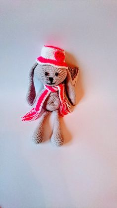 Valentine rabbit  Crochet heat heart  amigurumi heart by Gebeya