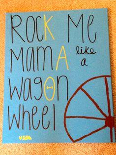 theta wagon wheel canvas