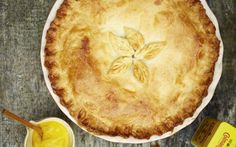 Sausage and onion pie with English mustard (Alex Hollywood)