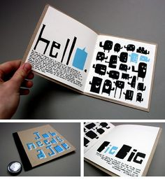 Simple book with handone? typography and simply illustrated vector characters.