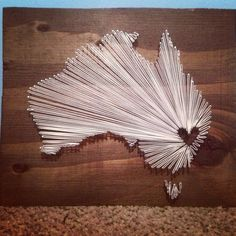 I Love my Country Australia 10 x 10 by nidification on Etsy, $35.00