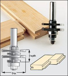 Four-in-One Grooving Bit - Woodworking