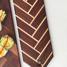 The Striped Sailfish Charcuterie Board Herringbone Boards - Cutting Board - Ideas of Cutting Board Cheese Cutting Board, Diy Cutting Board, Wood Cutting Boards, Butcher Block Cutting Board, Wooden Cheese Board, Cheese Boards, Kitchen Wood Design, Wood Projects, Woodworking Projects