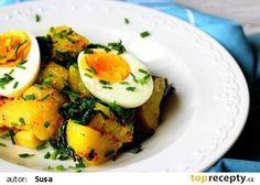 Bramborový salát s vejci a špenátem recept - TopRecepty.cz