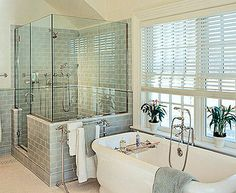 This classic bathrooms' modern and fresh design will appeal to the masses for many years.