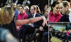 Kate and Will watch dance performance from inner city youth
