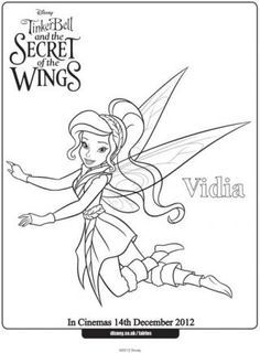 Vidia The Fairy Coloring Pages