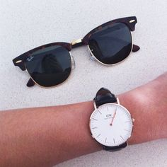 #danielwellington #rayban // use the code 'QUYNHXNH' for 15% off all DW products at danielwellington.com :) (valid for the first 50 customers!) @DW_Watches