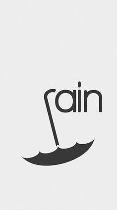Rain Design, Word Design, Rain Logo, Typo Logo Design, Wordmark, Logos, Logo Samples, Word Mark Logo, Typographic Design