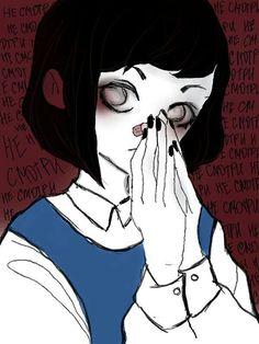 Aesthetic Drawing, Aesthetic Art, Scary Art, Creepy, Arte Horror, Fanarts Anime, Dark Anime, Dark Fantasy Art, Cute Art