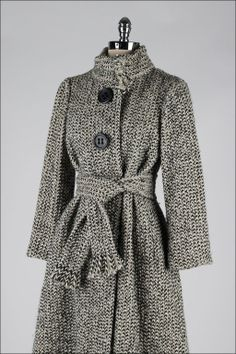 Vintage 1970's Pauline Trigere Wool Scarf Tie Coat | From a collection of rare vintage coats and outerwear at http://www.1stdibs.com/fashion/clothing/coats-outerwear/
