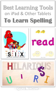 Best Learning Tools for Kids Spelling on iPad and Other Tablets #kidsapps