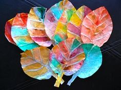 Get out the coffee filters and the glue gun to make these pretty fall leaves found at Having Fun At Home.