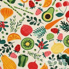 Obst- und Gemüsestoff grün