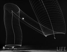 Nighttime Long Exposures of Rotating Helicopter Blades, Andreas Feininger
