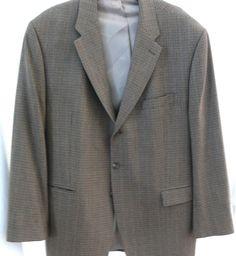 Lauren by Ralph Lauren Houndstooth Sport Coat Wool Cashmere Blend Size 48R  #LaurenRalphLauren #TwoButton