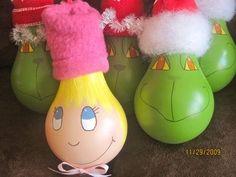 christmas ornaments made from light bulbs | Lightbulb Ornaments – PinLaVie.com
