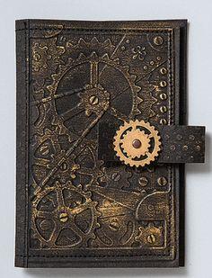 Wallet made with kraft•tex™ black Kraft Paper Fabric