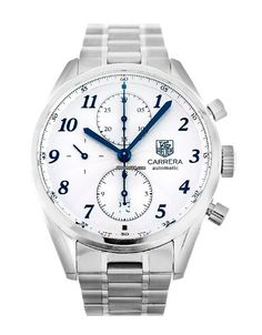 TAG Heuer Carrera CAS2111.BA0730 $4,206 #TagHeuer #watch #chronograph #watches 41mm Steel case, a Silver Arabic dial, a Steel bracelet