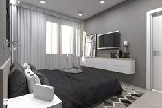 (Tarnowskie Góry) Projekt domu jednorodzinnego 1 - Średnia sypialnia małżeńska, styl skandynawski - zdjęcie od BAGUA Pracownia Architektury Wnętrz