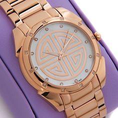 Rarities: Fine Jewelry with Carol Brodie Diamond-Accented Art Deco-Design Bracelet Watch