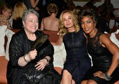 Kathy Bates (Madame LaLaurie), Jessica Lange (Fiona Goode), and Angela Bassett (Marie Laveau) - Coven