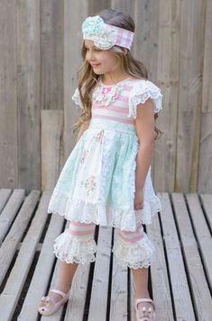 Girls' Clothing (newborn-5t) 6 Months Lace Trim Dress Easter Portraits