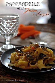 Pappardelle risottate con Zucca e Funghi