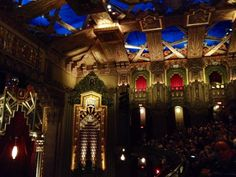 Hollywood Pantages Theatre - Los Angeles, CA, United States. Some of the detail inside the theater.