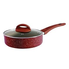 Oster 104438.02 Summerhaven 3.5Qt Aluminum Covered Whitford Non Stick Saute Pan with Helper, Red >>> Startling review available here  : Skillets and Fry Pans