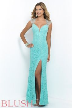 Prom Dresses 2015 Lace Sheath Column Prom Dresses Beaded Tulle Back With Slit Floor Length , You will find many long prom dresses and gowns from the top formal dress designers and all the dresses are custom made with high quality Blush Prom Dress, Pretty Prom Dresses, Prom Dresses 2015, Tulle Prom Dress, Beautiful Dresses, Formal Dresses, Lace Dresses, Party Dresses, Prom Gowns