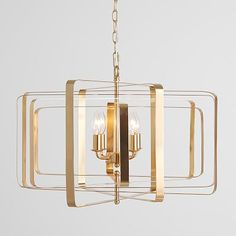Looking for just the right light? Our Kinetic Chandelier lets you adjust its metal frame with movable slats that can sit closer or further apart to deliver the exact glow you want. A hand-applied gold finish and exposed candelabra bulbs give it an … Capiz Chandelier, Flower Chandelier, Acrylic Chandelier, Chandelier Bedroom, Chandelier Lighting, Chandeliers, Glass Shelves Kitchen, Kitchen Fan, Chandelier