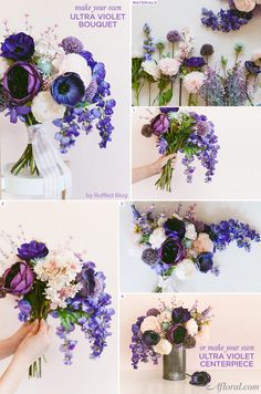 Make your own Ultra Violet Bouquet in honor of Pantone's color of the year!