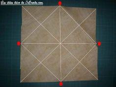 JeBrode.com: Une petite bourse vide-poche en origami Pochette Portable Couture, Vide Poche, Patches, Quilts, Crochet, Style, Dish Towels, Molde, Fabric Basket