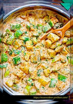 Creamy zucchini sauce - Healthy Food for Vegetarian Vegetable Soup Healthy, Vegetable Stew, Healthy Soup, Vegetable Recipes, Vegetarian Lunch, Vegetarian Recipes, Healthy Recipes, Delicious Recipes, Sauce Recipes