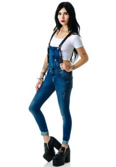 Frankie B Hipster Overall plaid denim blue women - these bitches are so freaking expensive but I really love them!