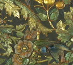 Detail of leather panel, © Victoria and Albert Museum, London