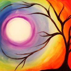 Chakra Vibes- acrylic on 16 x 20 canvas <3