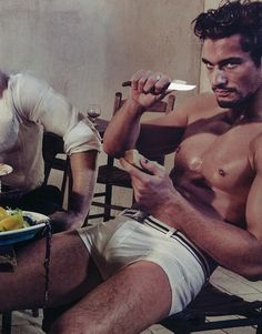 Um, be careful with that knife please! lol --Pia (David Gandy)
