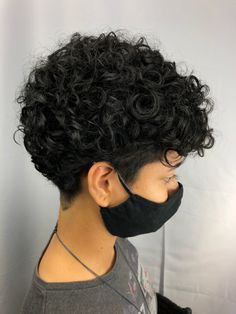Curly Pixie Cuts, Short Pixie, Pixie Hairstyles, Haircuts, Undercut Designs, Grow Hair, Hair Goals, Curly Hair Styles, Freedom