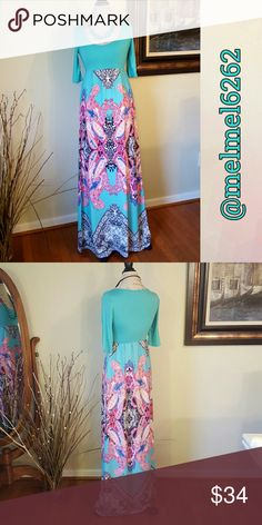Beautiful Maxi Dress Be ready for spring in this beautiful maxi dress.  Made in the US!   100% Polyester   Available Sizes:  Small  Medium  Large Dresses Maxi