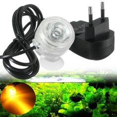 Waterproof Aquarium Fish Tank LED Submersible Air Bubble Light Lamp 220V