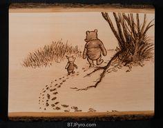 Winnie the Pooh sketch - Woodburning by brandojones.deviantart.com on @DeviantArt