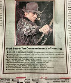Fred Bear's Ten Commandments of Hunting http://riflescopescenter.com/category/bushnell-riflescope-reviews/